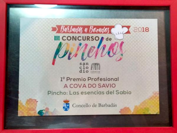 Premio Barbadás a bocados 2016 - Cova do Savio